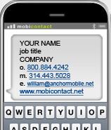 Mobile bus cards mobile marketing helper mcard2 colourmoves